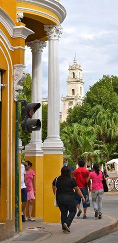 Esquina (corner) of grand plaza...Merida, Yucatan, 2012.