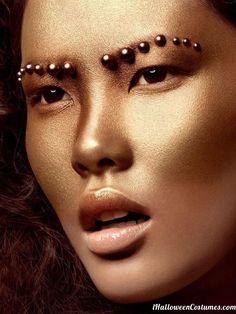 golden goddess makeup - Halloween Costumes 2013