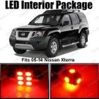 Classy Autos Nissan Xterra Red Interior LED Package (8 Pieces)