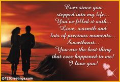 My Love Poems for Him | Since You Stepped Into My Life... Free Poems eCards, Greeting Cards ...