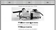 Glitter Button Screws Silver Gray eBay Template FreeAuctionDesigns.com