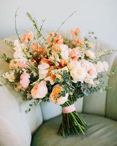 Designs For Garden Flower Beds 20 Wedding Bouquet Wraps We Love Martha Stewart Weddings White Wedding Bouquets, Wedding Flower Arrangements, Flower Bouquet Wedding, Wedding Centerpieces, Floral Wedding, Wedding Colors, Wedding Decorations, Flower Bouquets, Decor Wedding