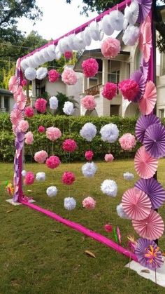 DIY Decor Ideas For A Fun Wedding Celebration Paper Decor- This is the most trending decor theme in Desi Wedding Decor, Wedding Stage Decorations, Backdrop Decorations, Paper Decorations, Birthday Party Decorations, Baby Shower Decorations, Wedding Ideas, Backdrops, Wedding Photos