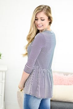 We are totally in love with this adorable baby doll top. Soft material? Check. Something to keep you comfortable all day? Check. With an adorable baby doll top you get the best of both worlds, you cou