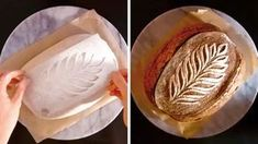 Oddly satisfying food video will make you hungry. Learn how the bakery gets beautiful patterns on bread. Artisan Bread Recipes, Sourdough Recipes, Sourdough Bread, Yeast Bread, Art Du Pain, Filet Mignon Chorizo, Pain Artisanal, Pain Au Levain, Bread Shop