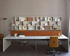 Estel mobili ~ Escritorio de oficina operativo con estantes joint by estel group