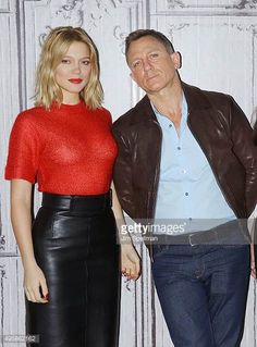 """Actors Lea Seydoux and Daniel Craig attend AOL BUILD Series Presents: """"Spectre"""" at AOL Studios In New York on November 2015 in New York City. Get premium, high resolution news photos at Getty Images Daniel Craig James Bond, Daniel Craig Style, Style James Bond, James Bond Women, Monica Bellucci, Lea Seydoux Style, Daniel Graig, Best Bond, Z Cam"""
