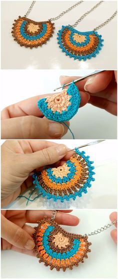 Crochet Easy Boho Necklace Learn to crochet easy boho necklace. We are glad to share with you step by step instructions without missing details. Necklaces can be the perfect who loves crochet and wear creative things. Love Crochet, Crochet Gifts, Learn To Crochet, Easy Crochet, Crochet Flowers, Crochet Things, Doilies Crochet, Boho Necklace, Boho Jewelry