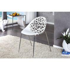 Moderne stoel Flora wit - 9765
