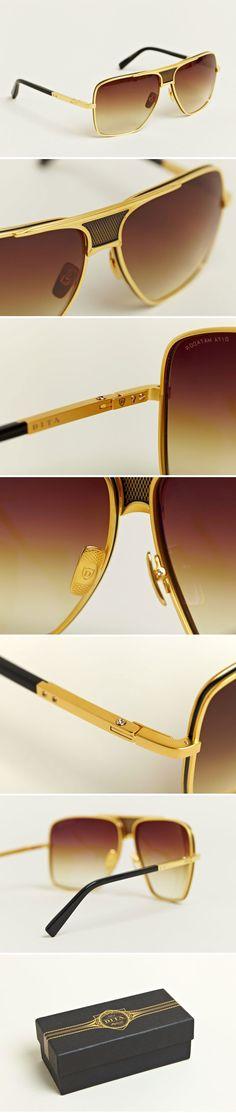 Dita - Men's Eighteen Carat Gold Matador Sunglasses - €724.00  http://www.ln-cc.com/invt/dit021014gld