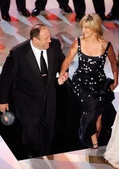 James Gandolfini & Edie Falco :( So sad.