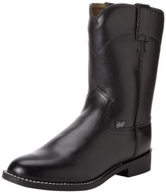 """Justin Boots Men's 3001 Farm & Ranch 10"""" Boot Roper Toe Rubber Outsole,Black Cow,6 D US Justin Boots http://www.amazon.com/dp/B0002TU14Y/ref=cm_sw_r_pi_dp_MN0Uub1JN6JT3"""