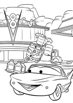 Cars Coloring Pages For Kids, Printable Free