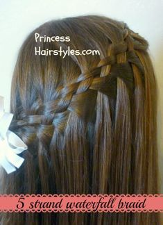 5 strand waterfall braid video tutorial-- WHAT??? I CAN'T EVEN DO A NORMAL ONE.
