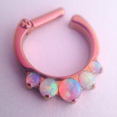Industrial Strength Odyssey clicker in pink septum Septum Piercings, Piercing Tattoo, Tragus, Gauges, Septum Clicker, Rook Piercing, Septum Ring, Body Jewelry Piercing, Septum Jewelry