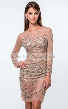 Zipper Short Natural Sheath Tulle Formal Dresses anbb2022--Hodress