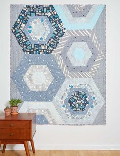 Succulent Garden quilt designed and pieced by Heather Givans; quilted by Benji Benjiman. Fabrics by Crimson Tate.