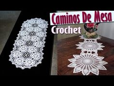 Caminos Para Mesa - Tejidos a Crochet ( Diseños e IDEAS ) - YouTube