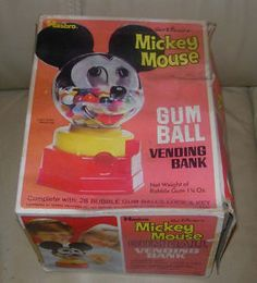 1968 Mickey Mouse Gum Ball Bank by Hasbro -