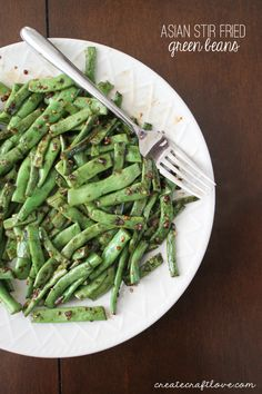 These Asian Stir Fried Green Beans are sure to be a hit with the whole family!
