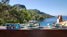Swarovski elements and Moorea design wrap bracelets  www.mooreastore.com