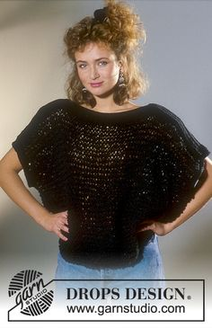 Drops Jersey in Embrezza with yoke in Rettinella Free pattern by DROPS Design.