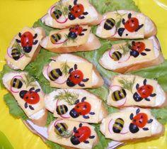 Бутерброды с букашками - Бутербродики - Праздничное меню - Каталог статей - Устроим праздник! Праздники дома
