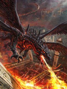 Dragon de fuego legend of the crypt ids #dragon #fantasy #LOTC
