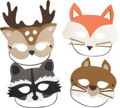 woodland animals masks