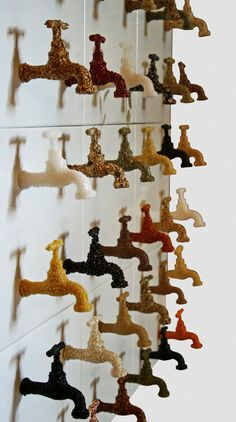 water taps in various materials Sara Asnaghi