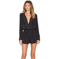 Splendid Long Sleeve Romper Rompers ($178) ❤ liked on Polyvore featuring jumpsuits, rompers, rompers & jumpsuits, playsuit romper, jumpsuits & rompers, long sleeve romper, playsuit jumpsuit and long sleeve jumpsuit romper