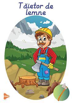 Ilustrații cu meserii și ocupații Experiment, Teaching Weather, Cartoon Characters, Fictional Characters, Teaching Materials, Preschool, Decor, Poster, Decoration