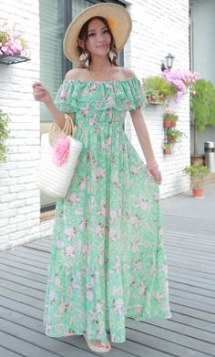 Flounced chiffon beach dress