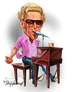 Jerry Lee Lewis - The Legend of Rock and Roll-caricature done by Don Howard