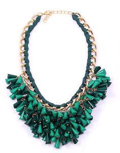 green necklace Green Necklace, Turquoise Necklace, Necklaces, Jewelry, Jewlery, Jewerly, Schmuck, Jewels, Jewelery