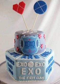 ... and give this cake to them ! Cr. exoclubhouse #exo #exo k #exo m #xoxo