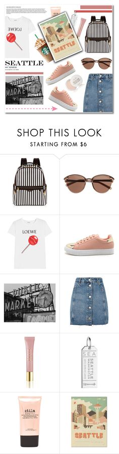 """Girly in Seattle"" by soivana ❤ liked on Polyvore featuring Henri Bendel, Witchery, Loewe, Topshop, AERIN, Jet Set Candy, Stila, Herb Lester, Fresh and Pink"