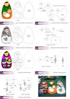 Felt Nativity Set Pattern Free Download by eleanor