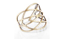 Iskin Mila Bracelet 2 - Leather - Geometric design - Laser cut Leather - Cuff - Contemporary Jewelry