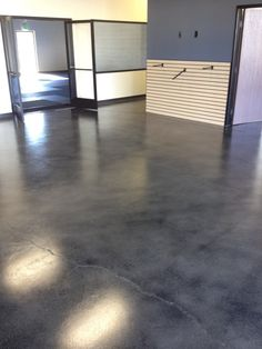 Caleb of Webb Coatings in California shared with us this gorgeous floor at MMA Academy in Vista. He applied our Water-based Stain in Onyx over the existing concrete and sealed the entire interior floor with our satin sealer. Thanks for sharing Caleb! Concrete Patios, Concrete Cement, Painting Concrete, Polished Concrete, Epoxy Floor Basement, Basement Bathroom, Acid Stained Concrete Floors, Floor Stain, Floor Colors