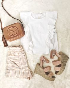 83a83f41b9 11 Best Beige shorts outfit images | Spring summer fashion ...