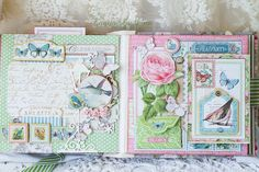 Вдохновение: Graphic 45 Design Team Audition 2015!  Botanical Tea Collection.  I love this pages!