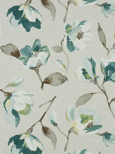 Contemporary Floral Fabric by the Yard by greenapplefabrics, $69.00