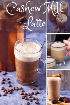 Make this smooth and healthy caramel iced latte that is slightly sweetened with dates and deliciously balanced with sea salt and cashew milk. Or take it up a notch by adding salted peanut butter. You can make this with freshly brewed coffee, cold coffee, or create a cold brew concentrate (recipe included.) Great to enjoy at home or for an on the go refreshing drink! #vegan #vegetarian #dairyfree #glutenfree #paleo #whole30 #plantbased Drink Recipes Nonalcoholic, Frozen Drink Recipes, Summer Drink Recipes, Easy Drink Recipes, Beer Recipes, Delicious Vegan Recipes, Coffee Recipes, Healthy Breakfast Recipes, Yummy Drinks