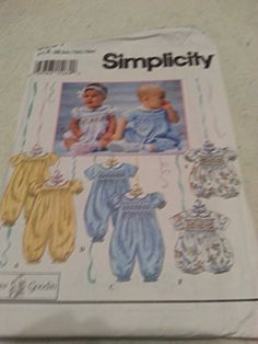 Simplicity pattern 8951 (size A / Smocking Patterns, Sewing Patterns, Baby Jumpsuit, Kindle App, Simplicity Patterns, S Star, Paper Dolls, Baby Baby, This Book