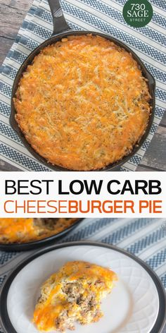 Easy low carb cheeseburger pie Bake this in a skillet or casserole dish for a quick delicious meal the whole family will enjoy easyrecipe lowcarb cheeseburger dinner healthy onthetable skillet recipe Keto Foods, Healthy Low Carb Recipes, Low Carb Dinner Recipes, Keto Dinner, Diet Recipes, Cooking Recipes, Dinner Healthy, No Carb Recipes, Skillet Recipes