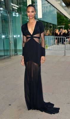 Zoe Saldana at the CFDA awards