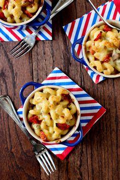 Red, White & Blue Mac n Cheese Recipe.  Love the Blue Cheese! IMG_5631.jpg by annieseats, via Flickr