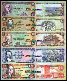 Jamaica banknotes - Jamaica paper money catalog and Jamaican currency history