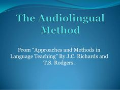 """From """"Approaches and Methods in Language Teaching"""" By J. Richards and T. Direct Method, Foreign Language Teaching, Behavioral Psychology, English Grammar Worksheets, Learning Theory, Teaching Activities, Textbook, Vocabulary, Educational Activities"""